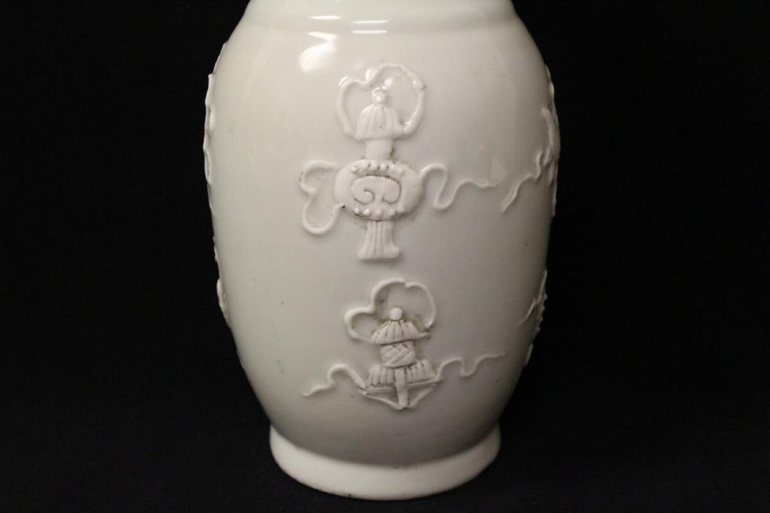White on white porcelain vase - 5