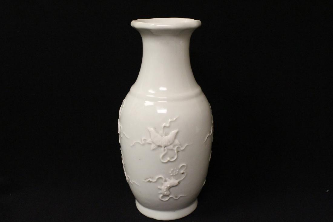 White on white porcelain vase - 6