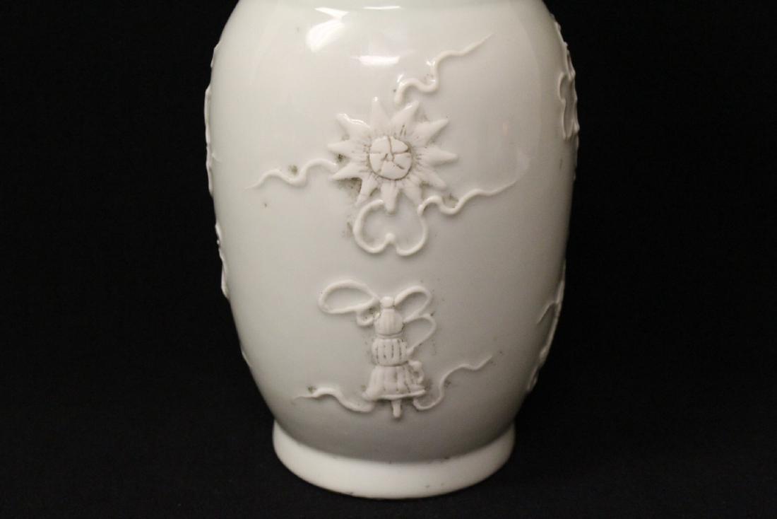 White on white porcelain vase - 8