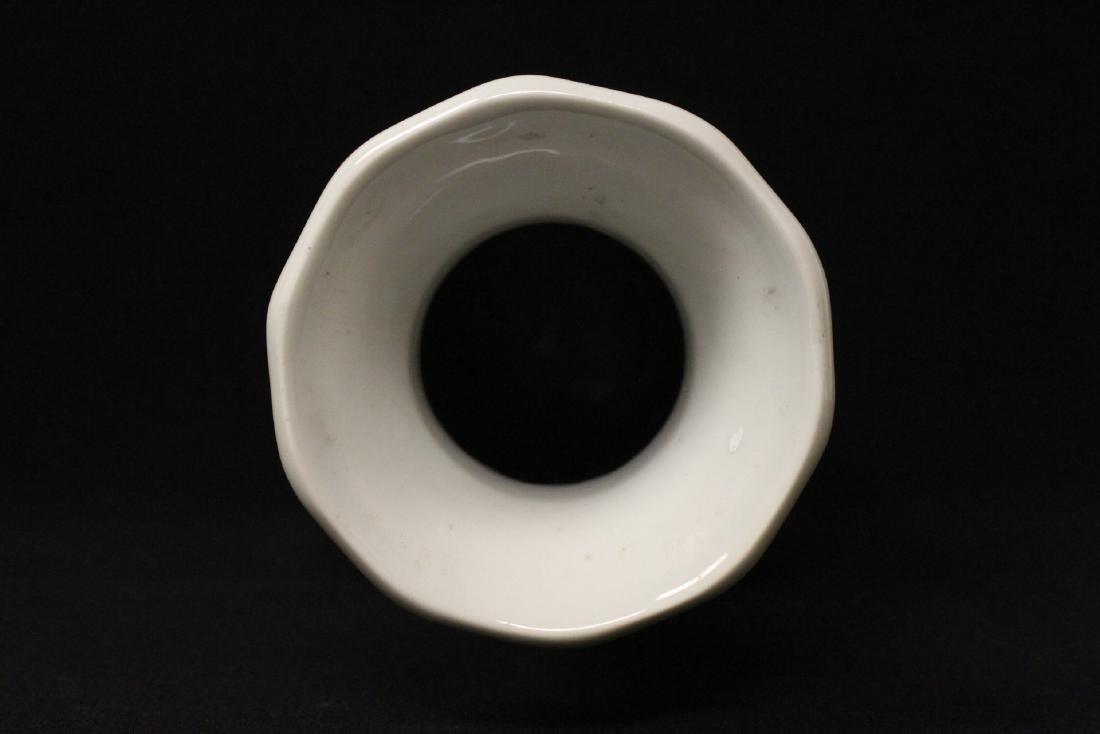 White on white porcelain vase - 9