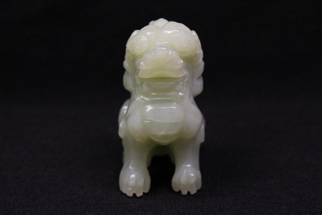 2 jade like stone carved ornament - 3