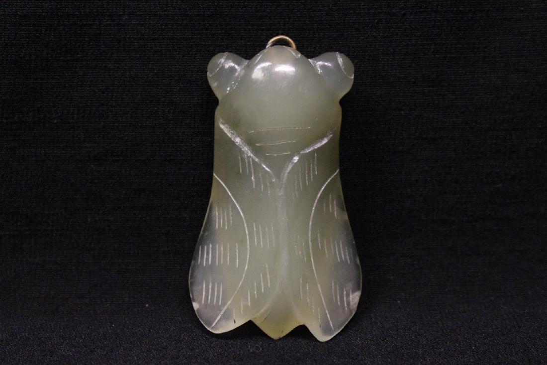2 jade like stone carved ornament - 7