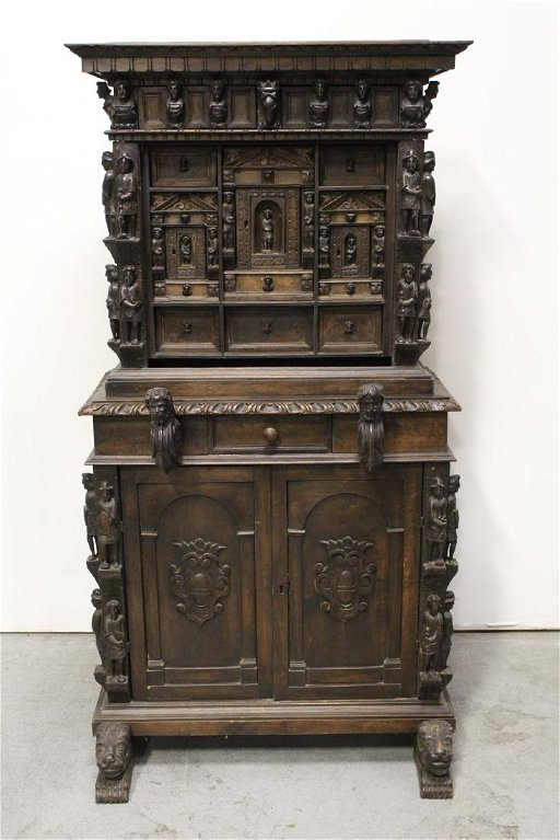 An Important 17th 18th Century Gothic Cabinet Jan 15 2018