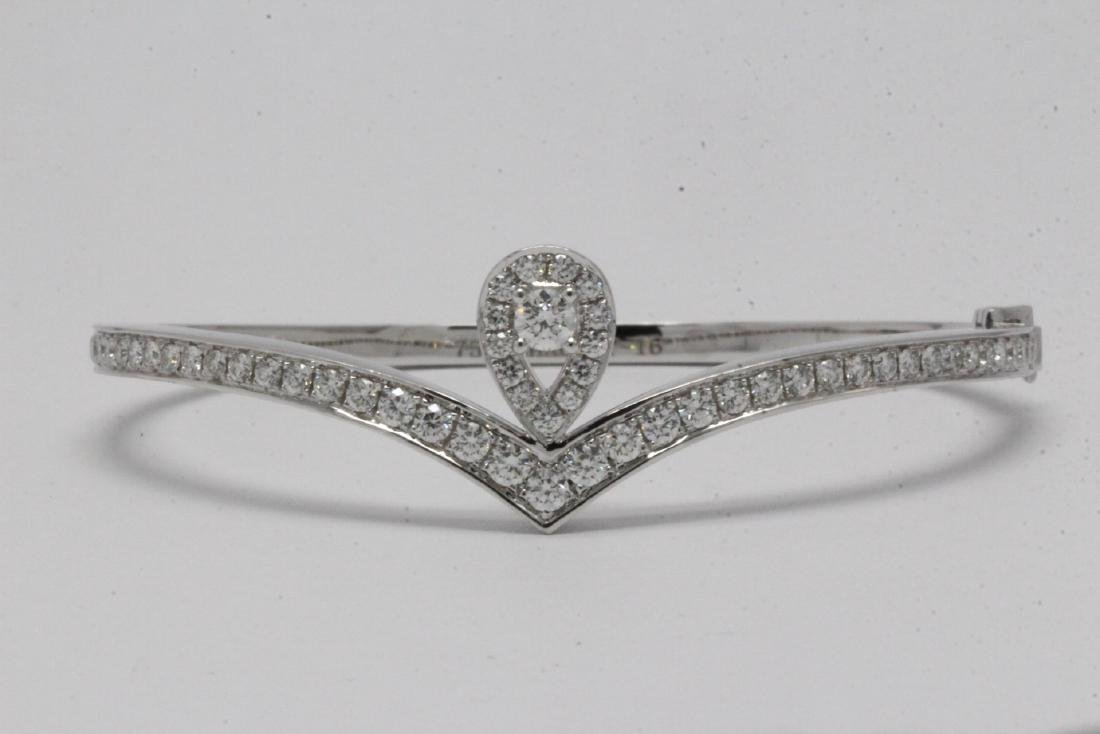 18K W/G diamond bracelet by Chaumet