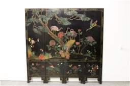 Chinese vintage 4panel room divider