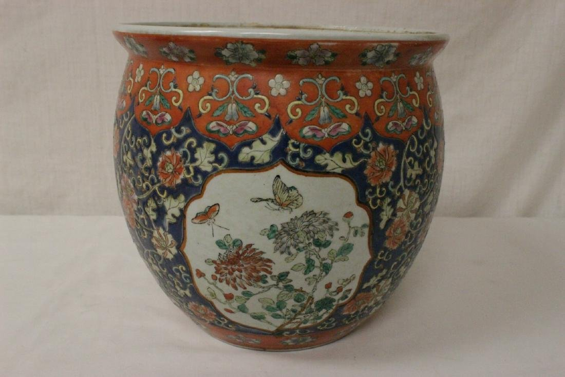 Large Chinese famille rose porcelain covered jar - 3