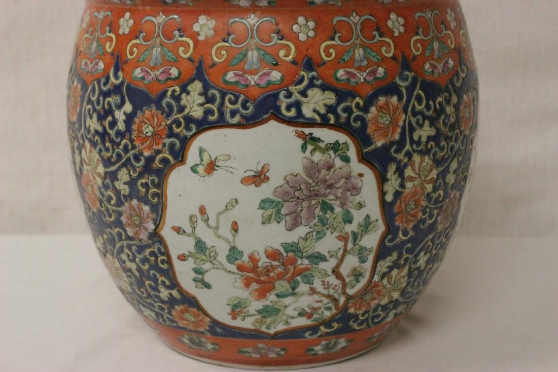 Large Chinese famille rose porcelain covered jar - 6