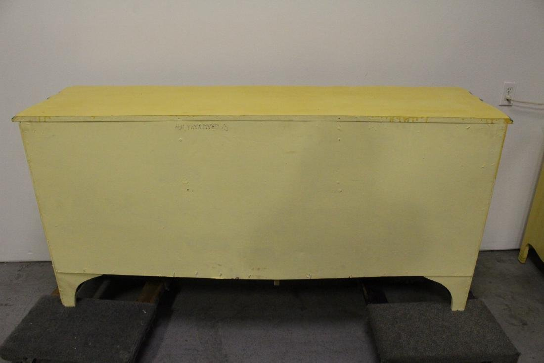 Painted yellow chest of drawers - 10