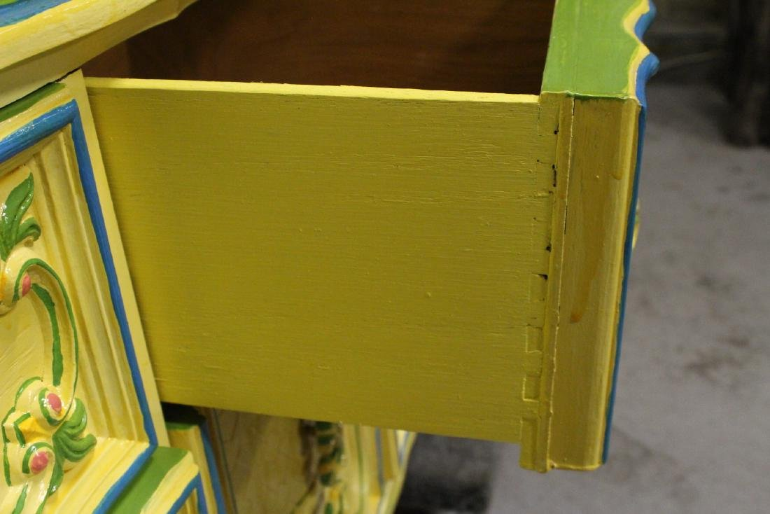 Painted yellow chest of drawers - 4
