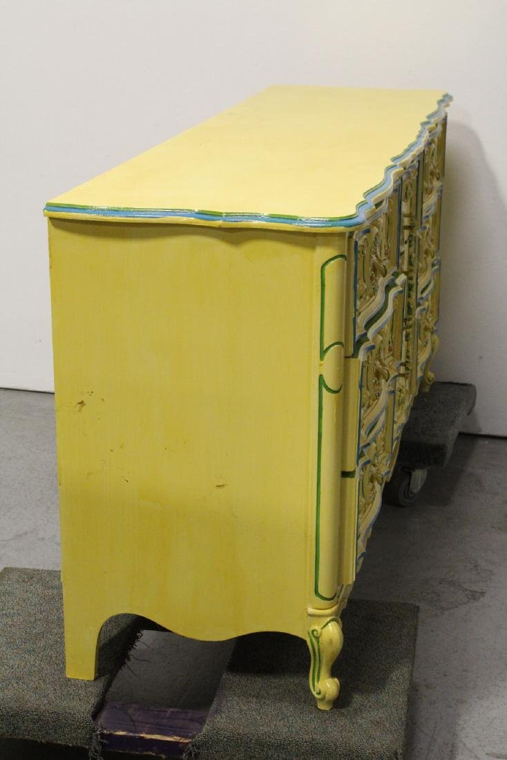 Painted yellow chest of drawers - 8