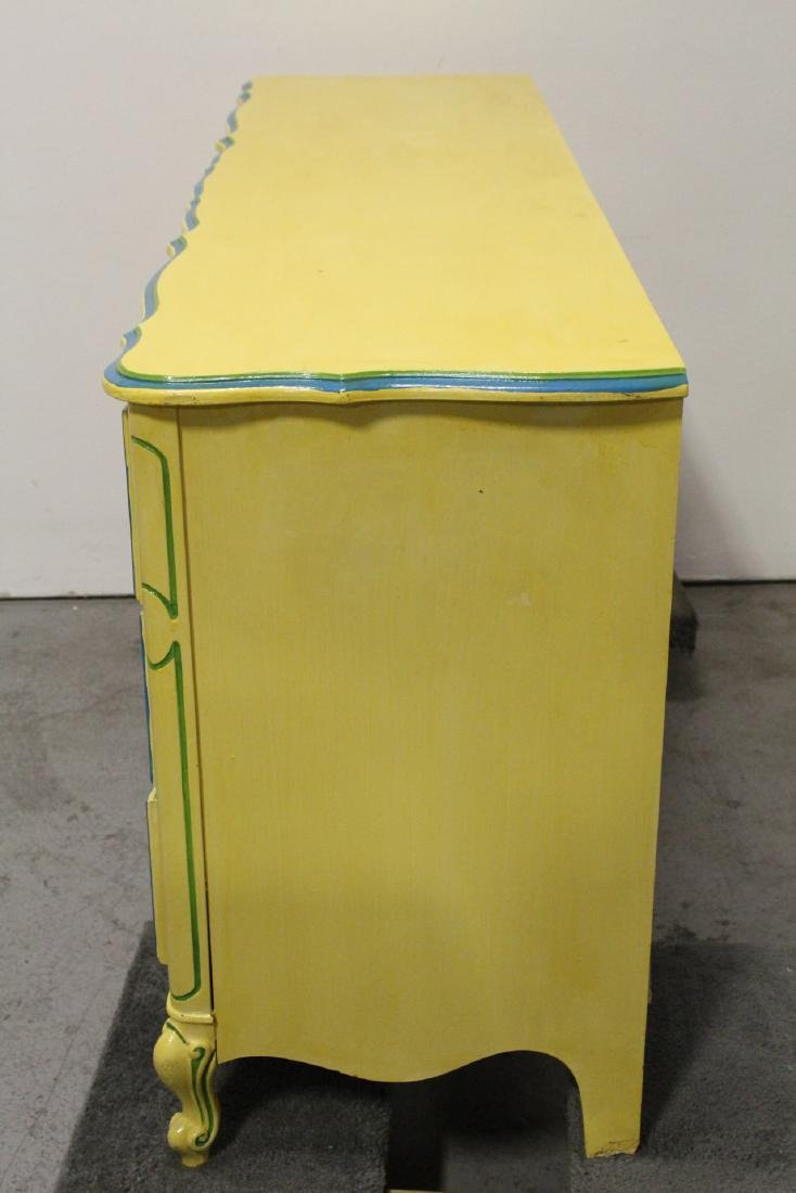Painted yellow chest of drawers - 9