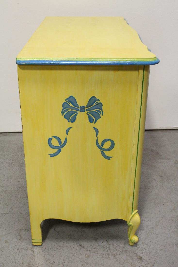 Painted yellow desk, and a painted yellow night stand - 4