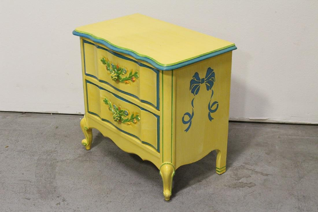 Painted yellow desk, and a painted yellow night stand - 8