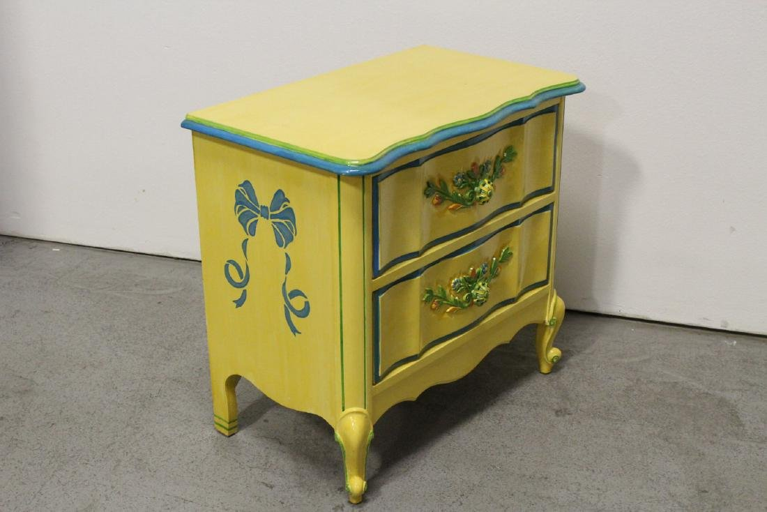 Painted yellow desk, and a painted yellow night stand - 9