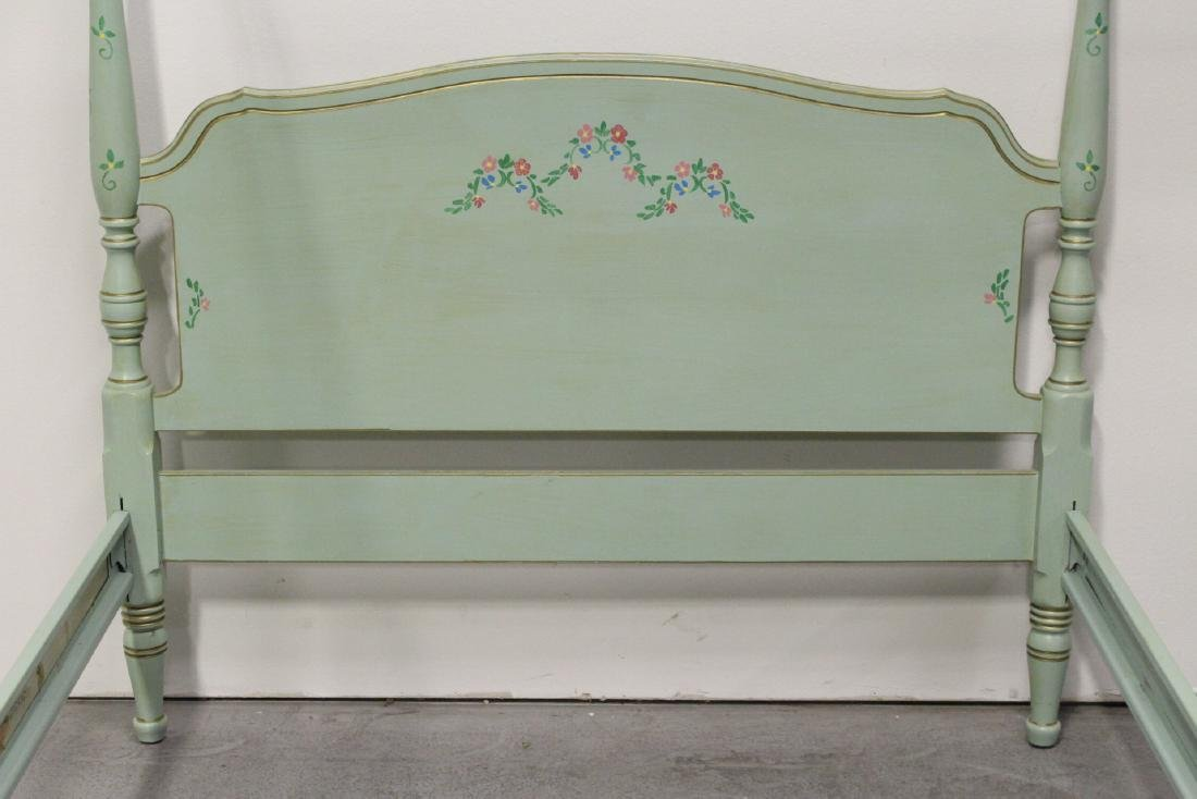 3 pieces painted green bedroom set - 10