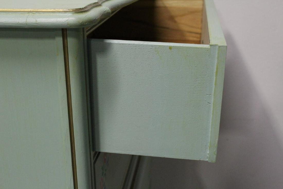 3 pieces painted green bedroom set - 5