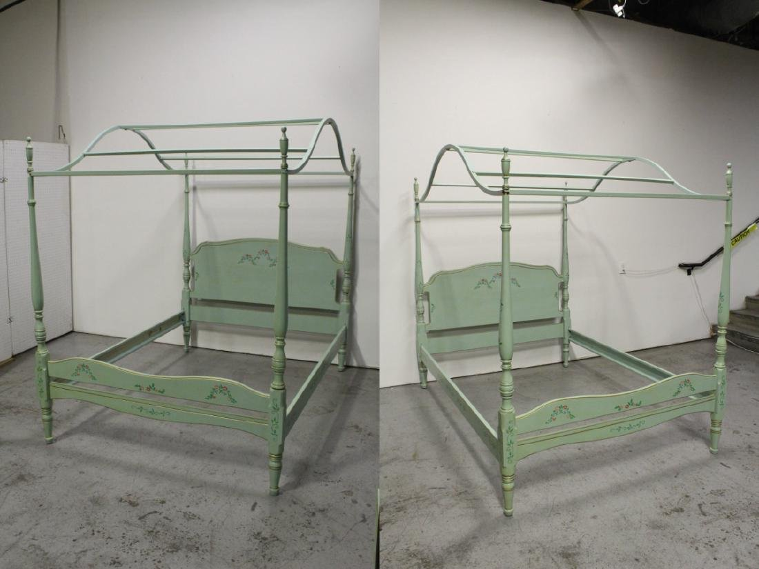 3 pieces painted green bedroom set - 9