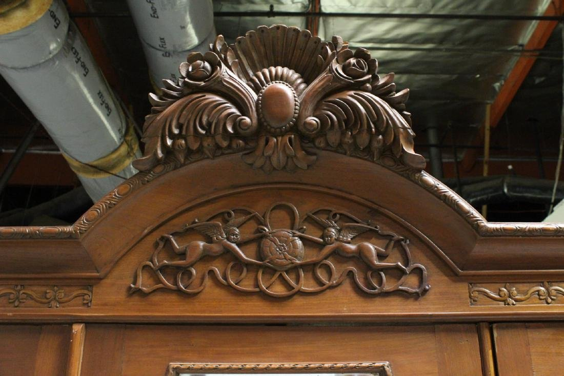 A very fancy Victorian mahogany armoire - 4