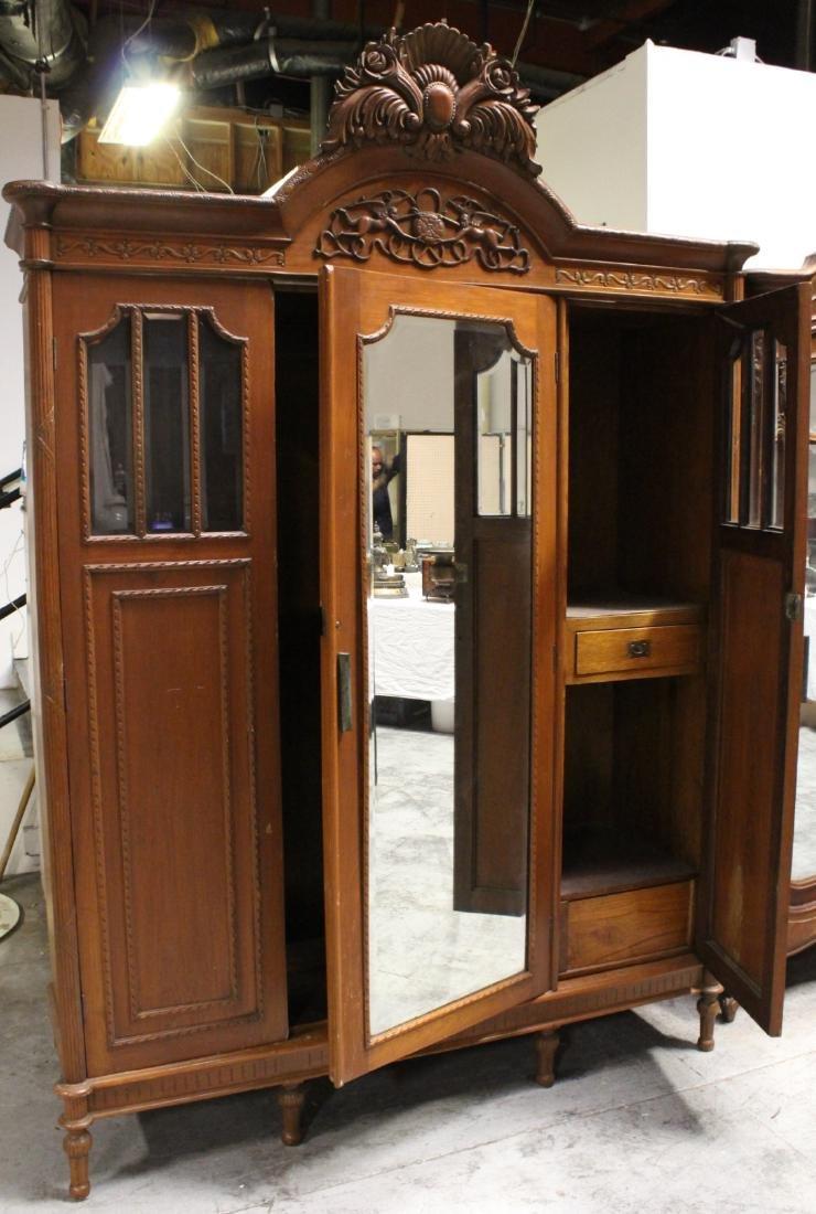 A very fancy Victorian mahogany armoire - 5