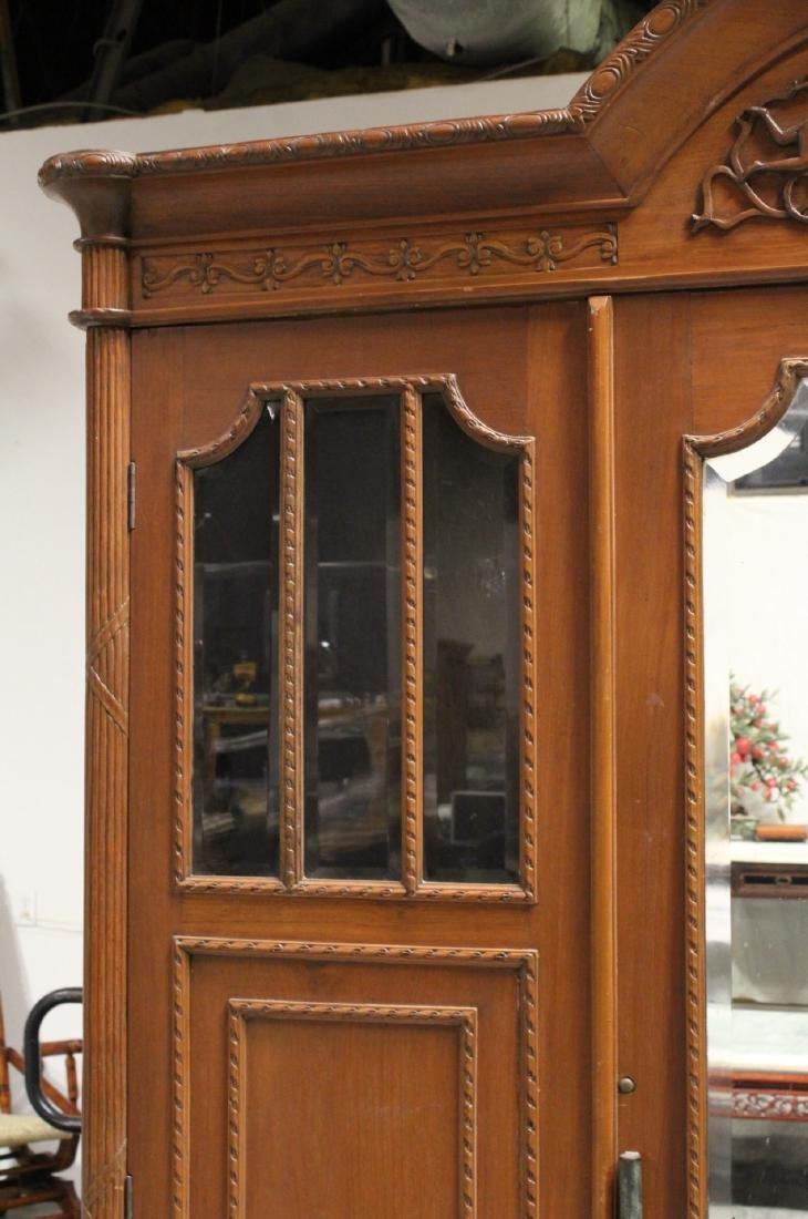 A very fancy Victorian mahogany armoire - 9