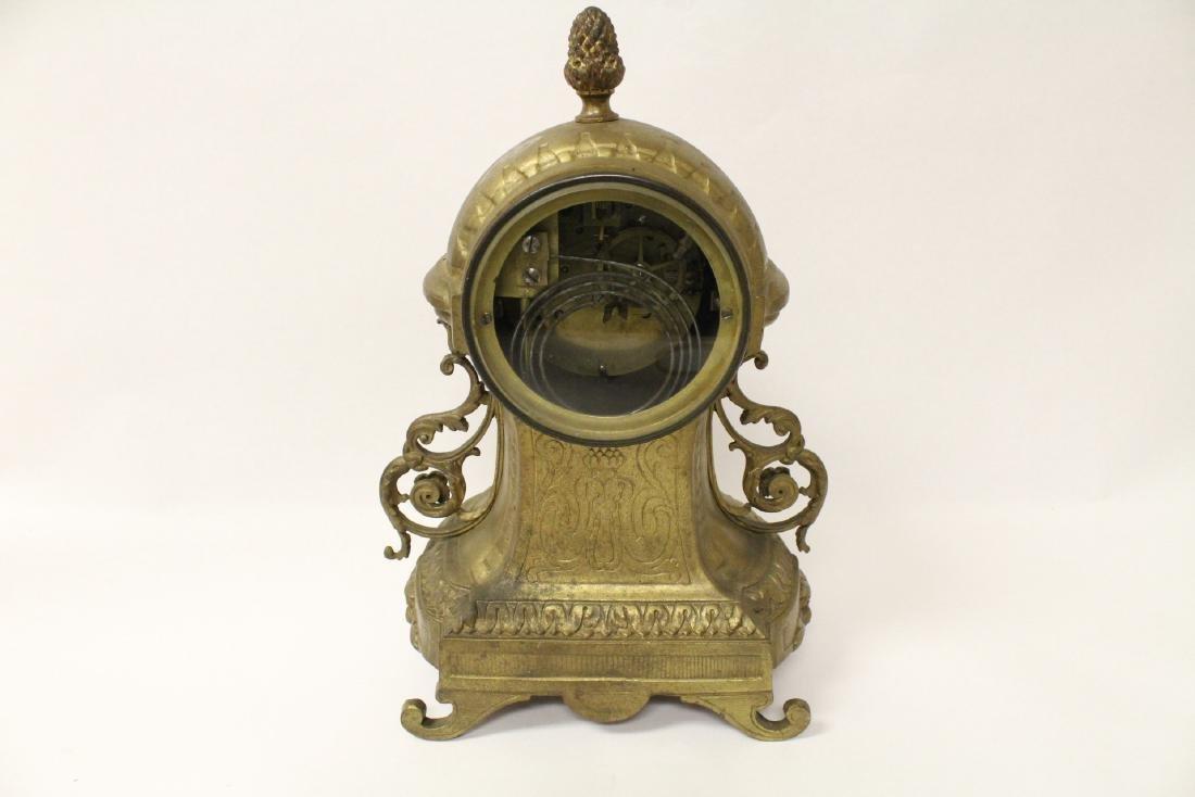 Key-wind table clock - 7