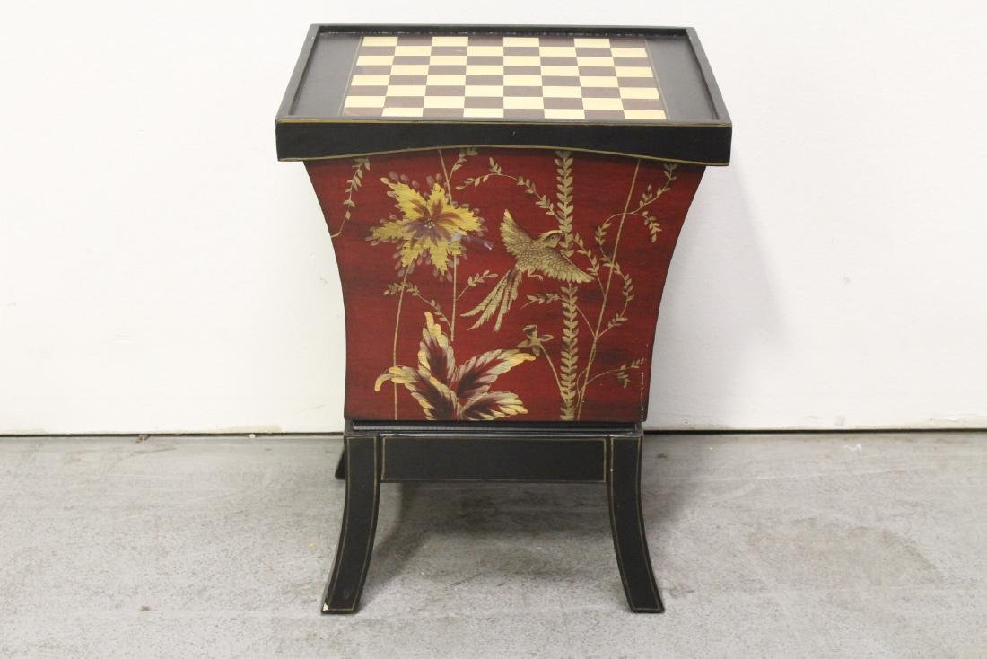 Lacquer chess stand with drawers - 10