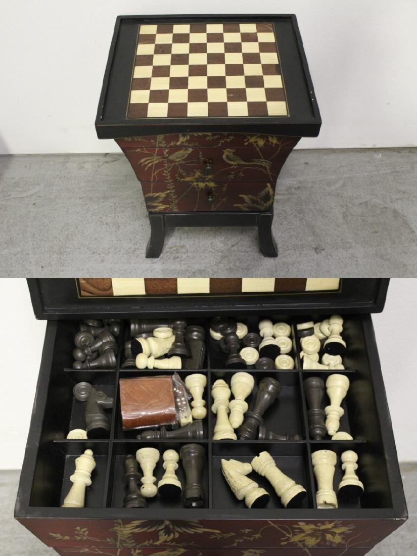 Lacquer chess stand with drawers - 2