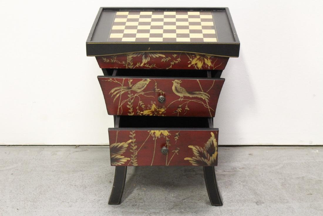 Lacquer chess stand with drawers - 6