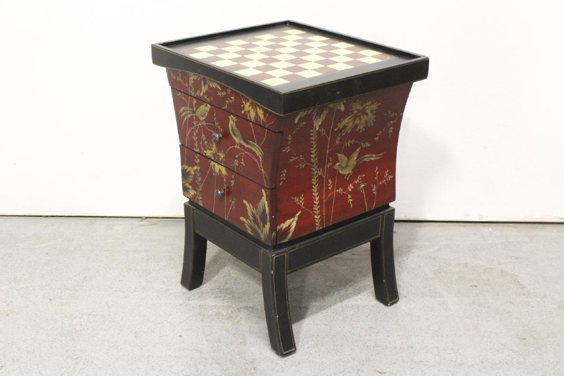 Lacquer chess stand with drawers - 7