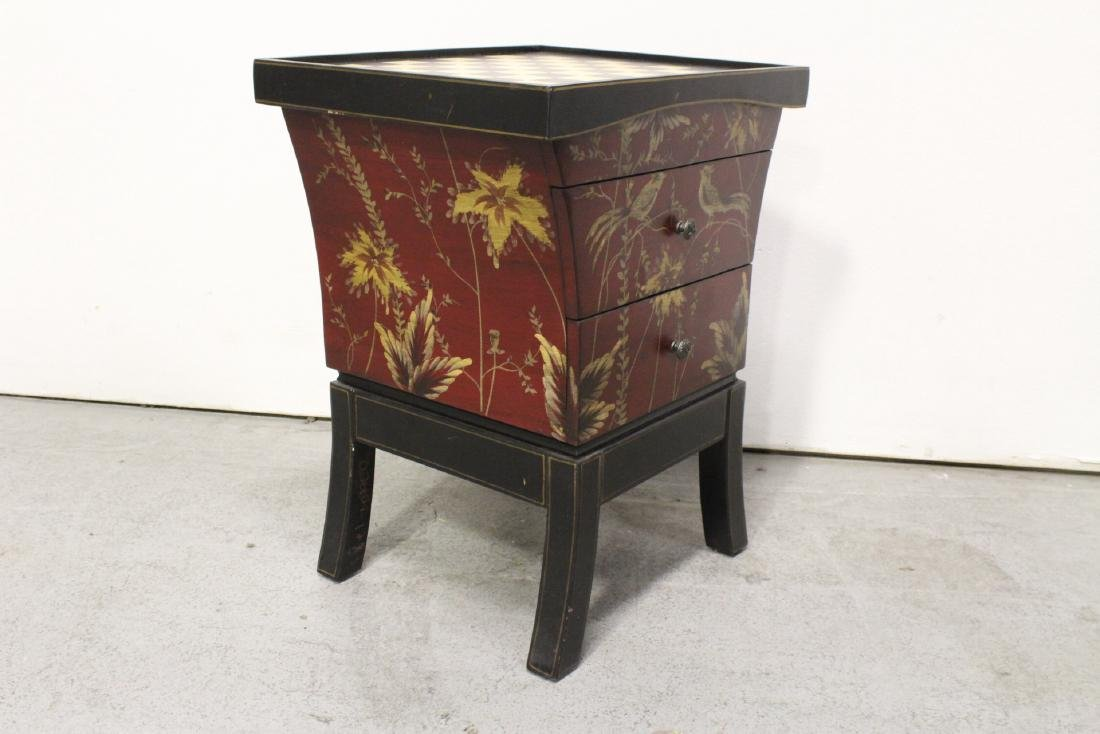 Lacquer chess stand with drawers - 8