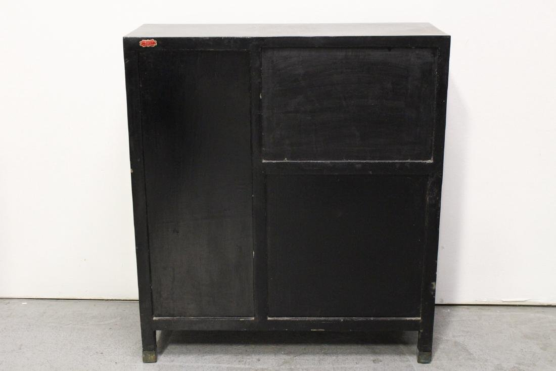 Chinese stone overlay lacquer cabinet - 9