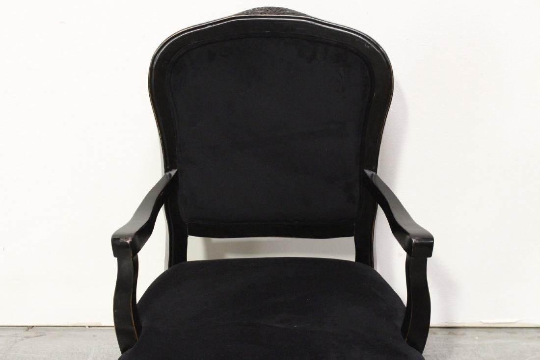 Pair Victorian style armchairs - 10