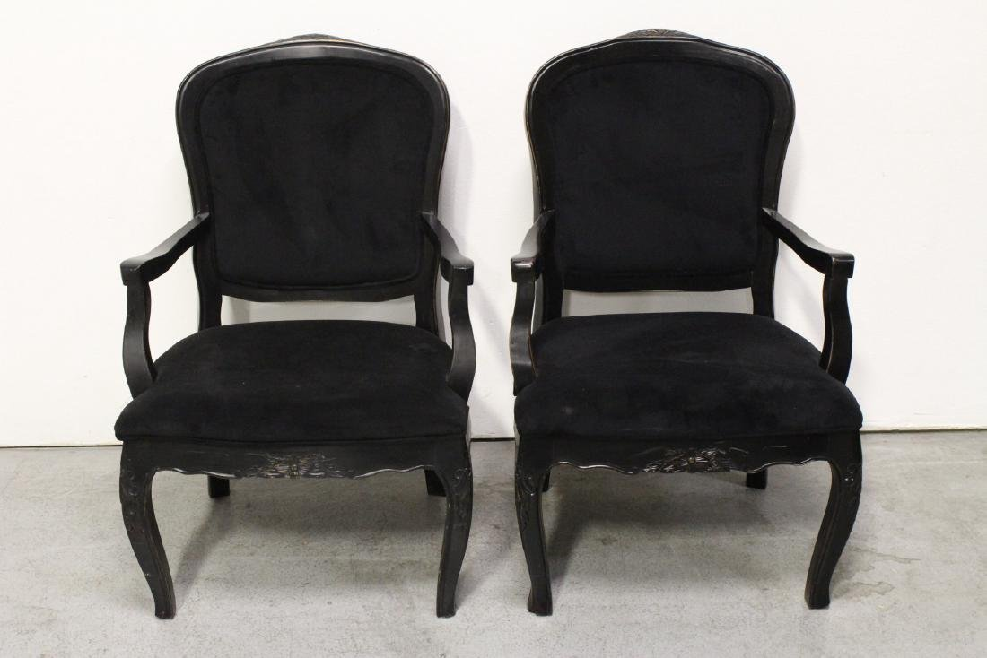 Pair Victorian style armchairs