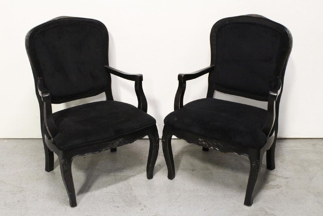 Pair Victorian style armchairs - 2