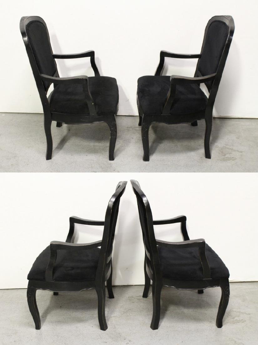 Pair Victorian style armchairs - 3