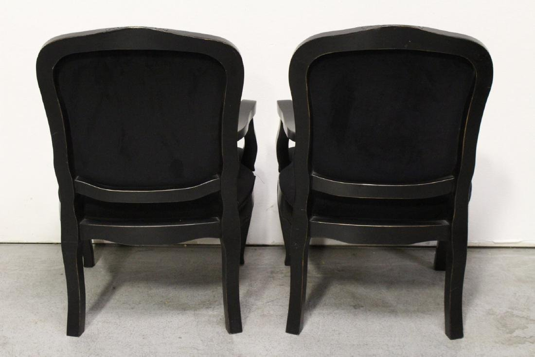 Pair Victorian style armchairs - 5