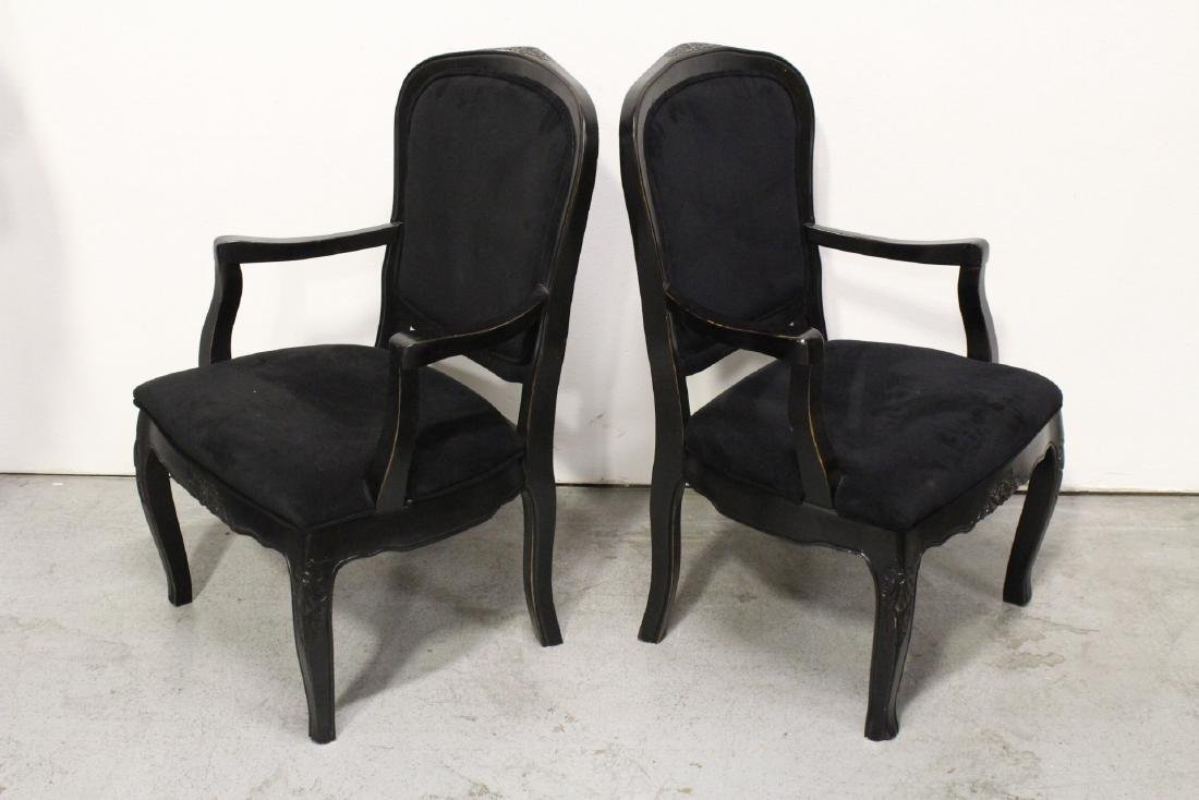 Pair Victorian style armchairs - 6