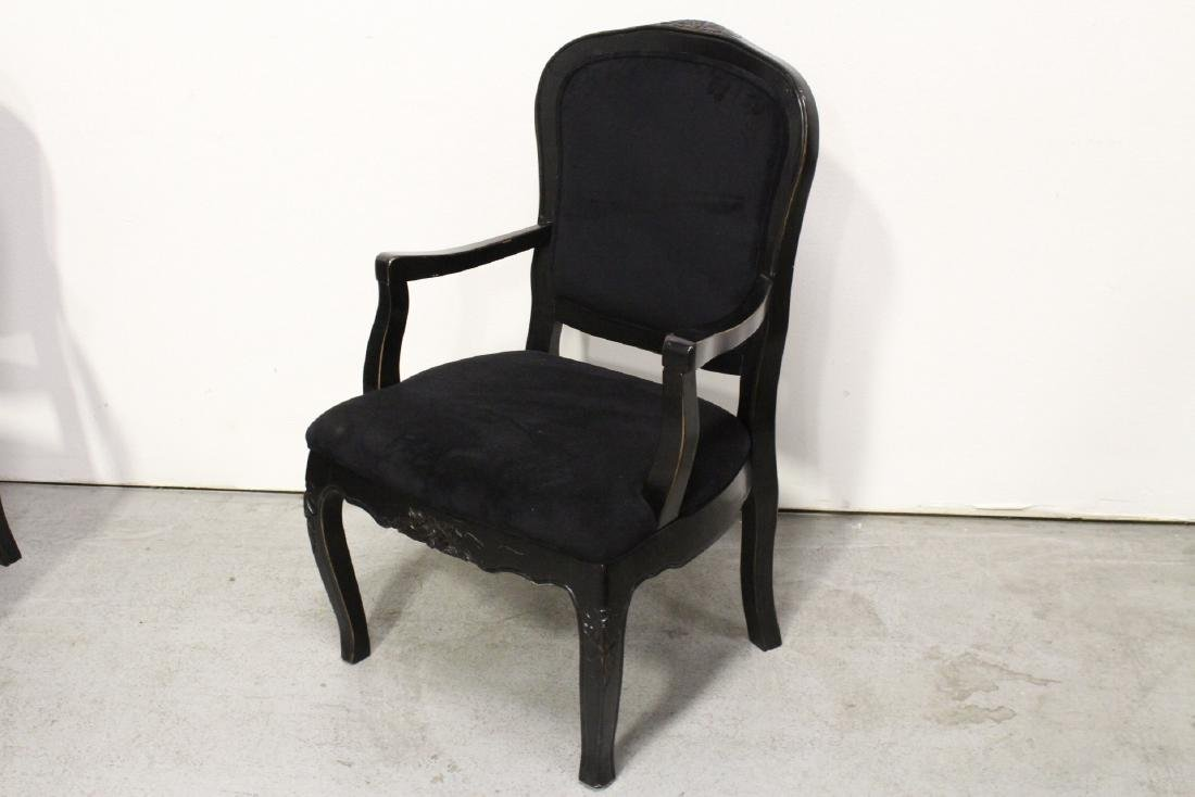 Pair Victorian style armchairs - 8
