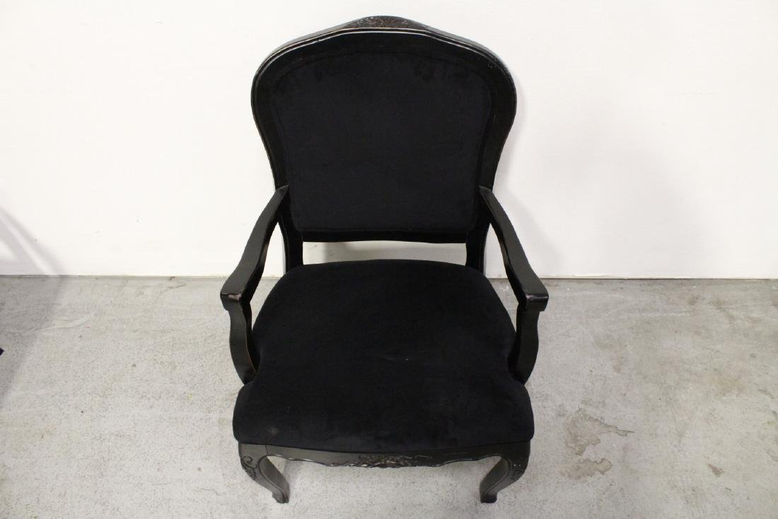 Pair Victorian style armchairs - 9