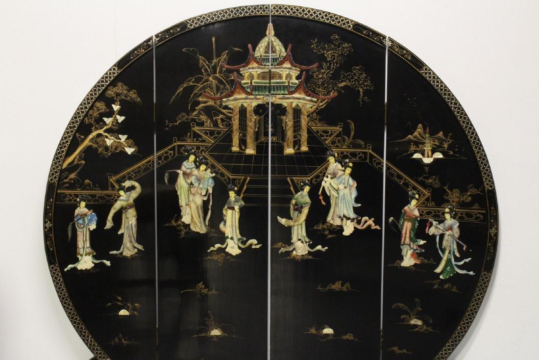 Chinese 4-panel coromandel room divider - 2