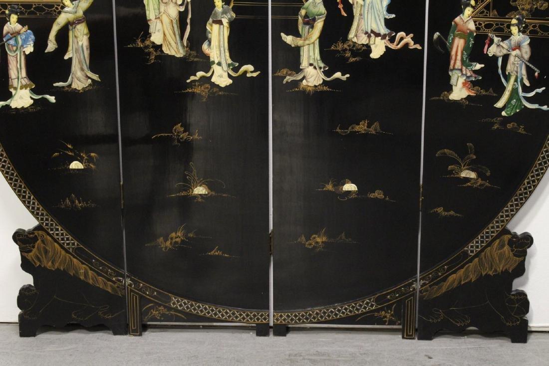 Chinese 4-panel coromandel room divider - 3