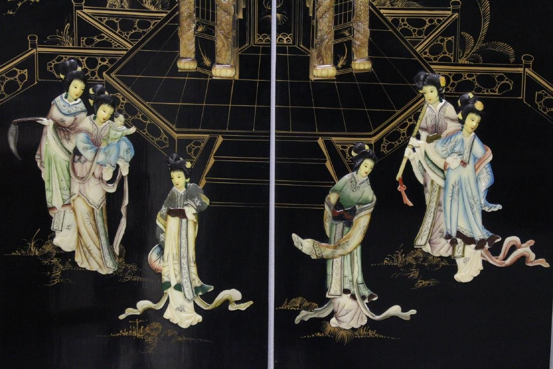 Chinese 4-panel coromandel room divider - 5