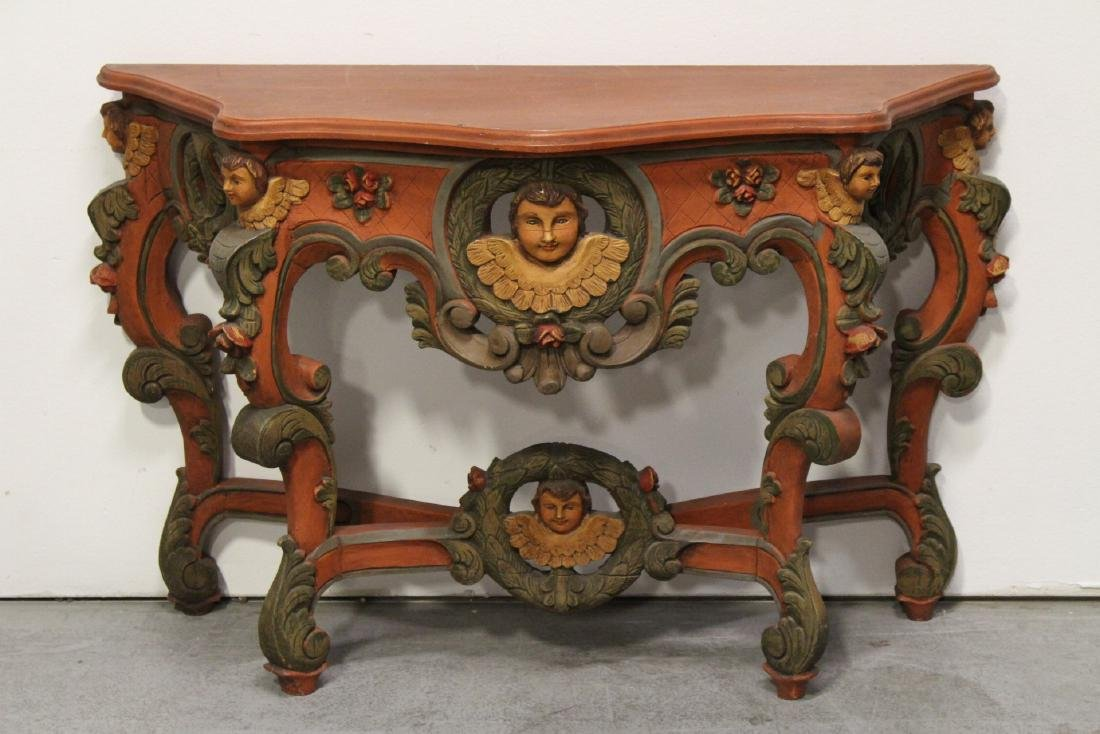 Beautiful painted Italian console table