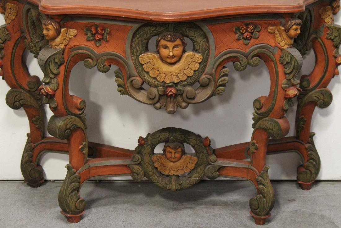 Beautiful painted Italian console table - 3