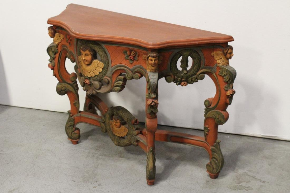 Beautiful painted Italian console table - 6
