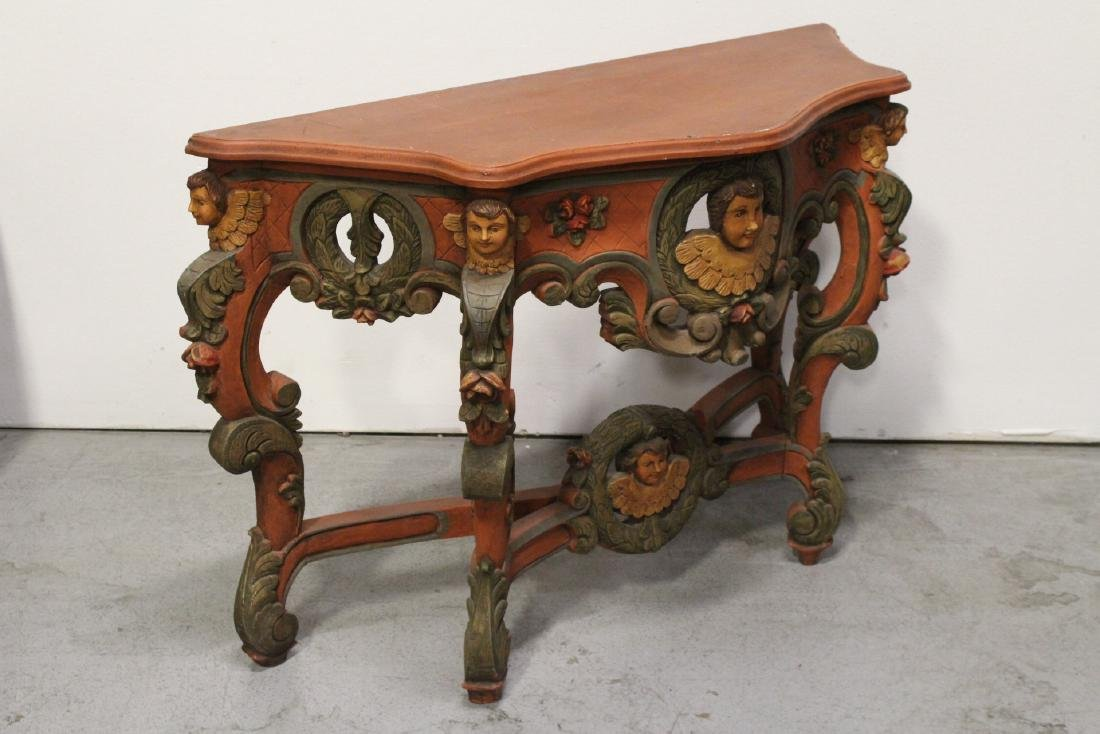 Beautiful painted Italian console table - 7