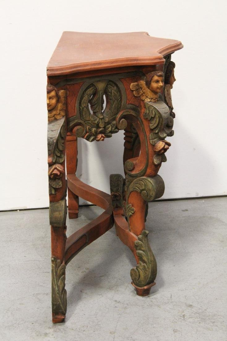 Beautiful painted Italian console table - 8