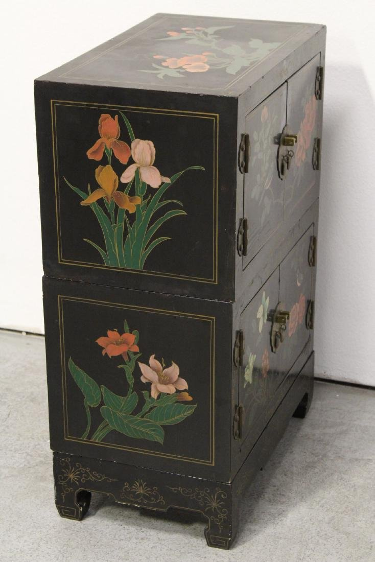 2 miniature lacquer cabinet with stand - 10