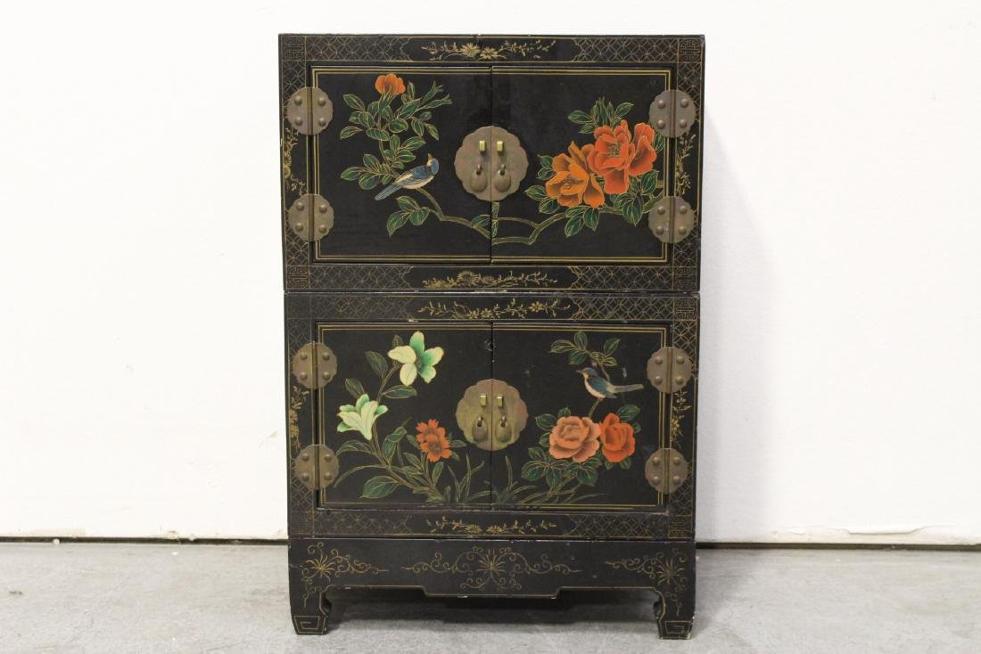 2 miniature lacquer cabinet with stand