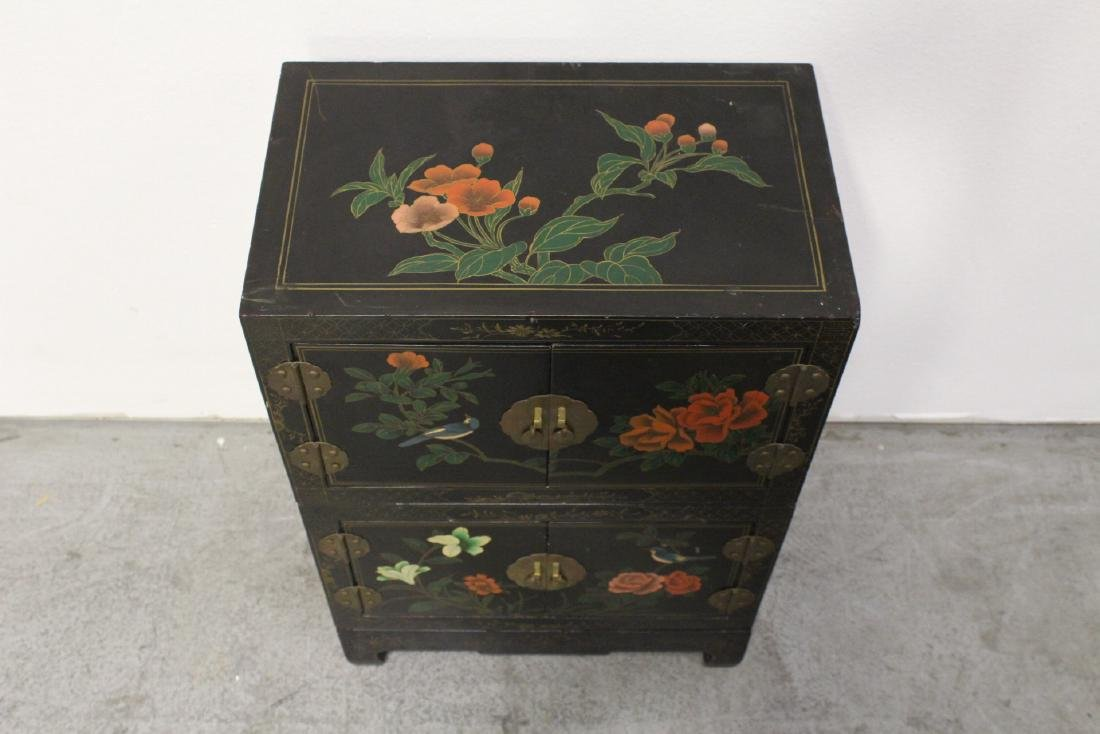 2 miniature lacquer cabinet with stand - 2